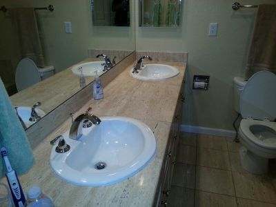 His and Her Bathroom Faucets